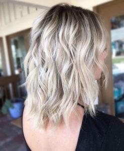 Ashy Blonde Balayage Hair Color Idea