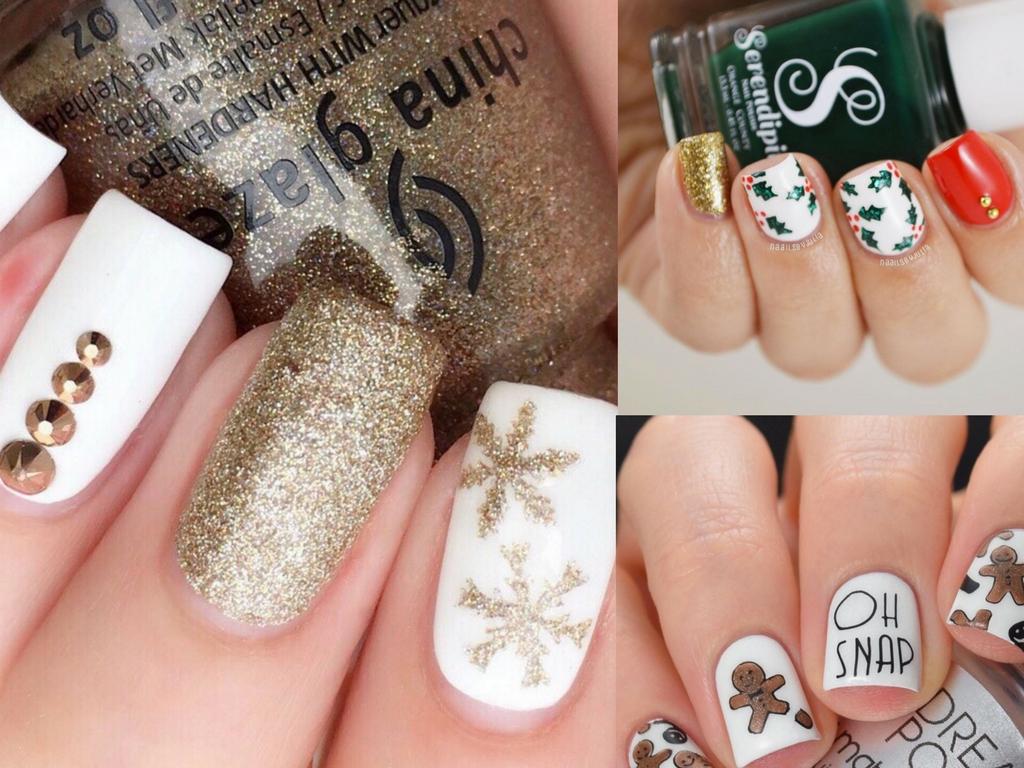 D Christmas Nails Design
