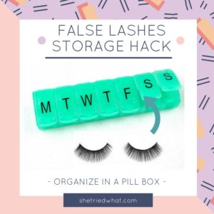 Makeup Tips: False lashes storage hack