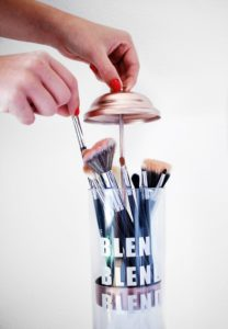 Makeup Tips: Use a straw holder to store your makeup brushes