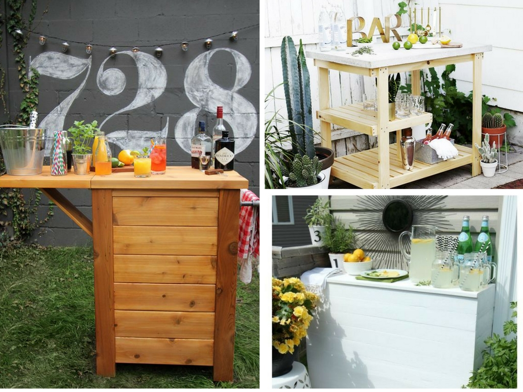11 DIY Outdoor Bar Ideas to Instantly Upgrade Your ... on Backyard Bar id=12437