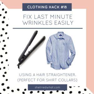 Clothing Hack: Fix Last Minute Wrinkles Using a Hair Straightener