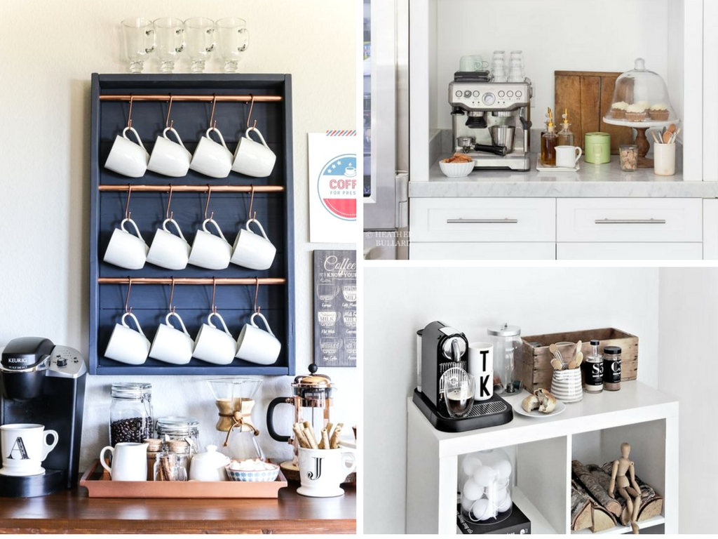 23 best diy coffee station ideas you need to see she for Coffee station ideas for the home