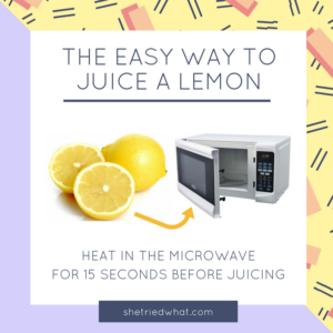 Kitchen Hacks: How to Juice a Lemon the Easy Way