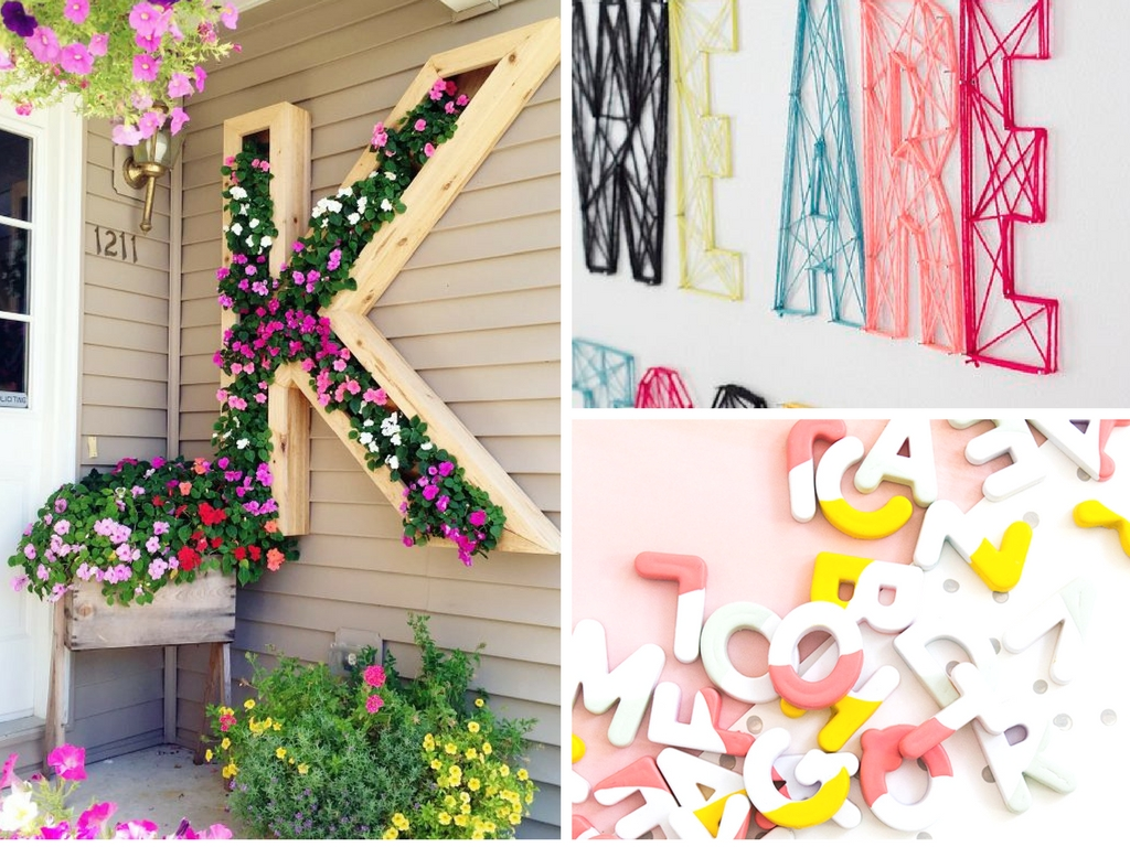 Diy monogram ideas