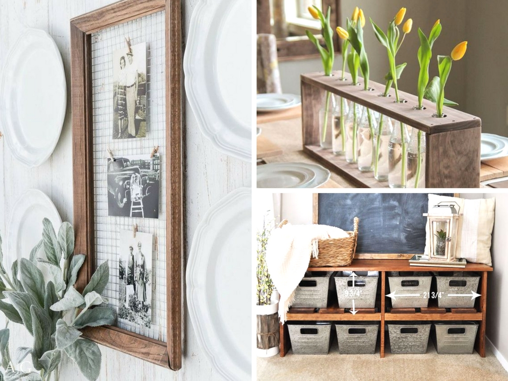 19 diy farmhouse decor ideas to style your fixer upper on for Inexpensive house decorating ideas